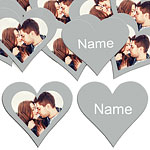 Silver Heart Personalised Confetti