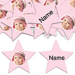 Baby Pink Star Personalised Confetti