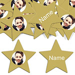Gold Star Personalised Confetti