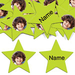 Lime Green Star Personalised Confetti