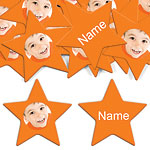 Orange Star Personalised Confetti