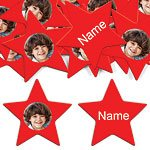 Red Star Personalised Confetti