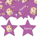 Radiant Orchid Star Personalised Confetti