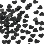 Tiny Hearts Black Table/Invite Confetti £1.29 14g