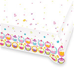Cupcake Tablecover - Plastic Party Table Cover