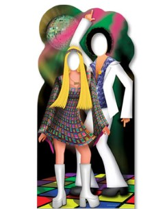 Disco Couple Stand In Cardboard Cutout - 180cm