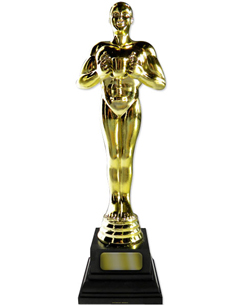 Golden Award Statue Cardboard Cutout - 1.8m