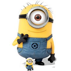 Minion Carl Cardboard Cut Out - 139cm