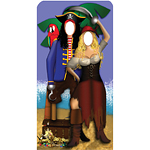 Pirate Couple Stand In Cardboard Cutout - 186cm