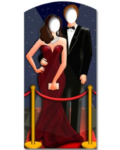 Hollywood Red Carpet Stand In Cardboard Cutout - 1.8m