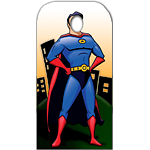 Superhero Stand In Cardboard Cutout - 186cm