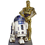 Star Wars The Droids R2D2 and C3PO Cardboard Cutout - 1.66m