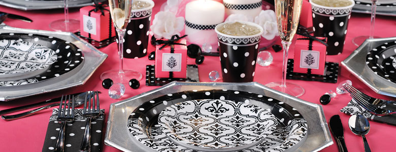 Damask Amp Dots Engagement Party Supplies Party Delights