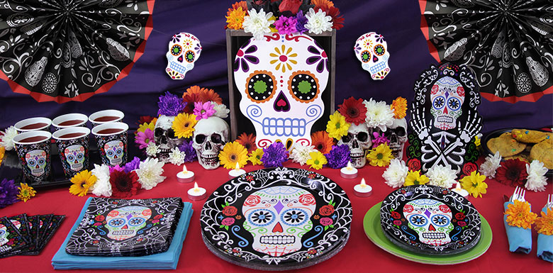 Day of the Dead Tableware & Day of the Dead Tableware | Party Delights