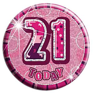 Dazzling Effects 21st Birthday Badge