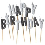 Happy Birthday - Black Pick Candles