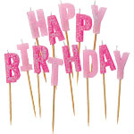 Happy Birthday - Pink Pick Candles