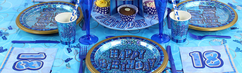Dazzling Effects 18th Birthday Blue Party Supplies Woodies Party