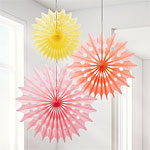 Sorbet Fan Decorations - 48cm