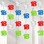 18th Birthday Multi Hanging String Decorations - 2m