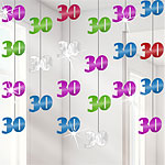 30th Birthday String Party Decorations - 2.1m