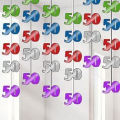 50th Birthday String Party Decorations - 2m