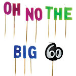 "60th Birthday ""Oh No Big 60"" Birthday Candles - 7.5cm"