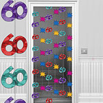 60th Multi-coloured Door Curtain Decoration - 1.95m