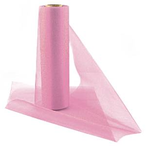 Organza Drapes Organza Sheer Roll Pink - 25m