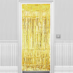 Gold Metallic Fringed Door Cur