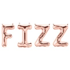 "'FIZZ' Rose Gold Balloon Kit - 34"" Foil"