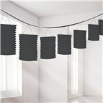 Black Paper Lantern Garland Decoration - 3.7m