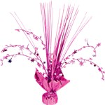 Bright Pink Foil Spray Table Centrepiece - 30cm