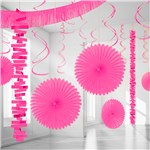 Bright Pink Paper & Foil Room Decorating Kit
