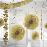 Gold Paper & Foil Room Decorating Kit
