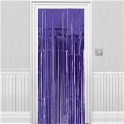 New Purple Metallic Fringed Door Curtain