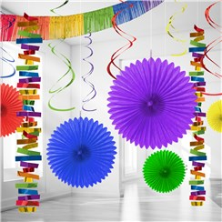 Rainbow Paper & Foil Room Decorating Kit