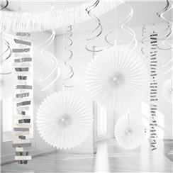 White Paper & Foil Room Decorating Kit