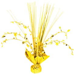 Yellow Foil Spray Table Centrepiece - 30cm