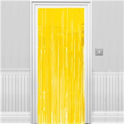 Sunshine Yellow Fringed Door Curtain