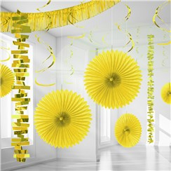 Yellow Paper & Foil Room Decorating Kit