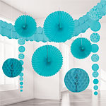 Robins Egg Blue Damask Decorating Kit