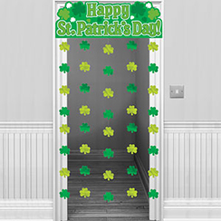 Shamrock Door Curtain - 1.9m St Patrick's Day Decoration