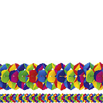 Giant Supercolour Paper Garland - 10m