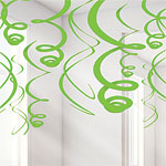 Green Hanging Swirls - 55.8cm