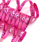 Hot Pink Holographic Streamers - 10 coils