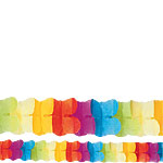 Multicoloured Paper Garland Decoration - 3.7m