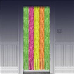Neon Door Curtains - 2.4m & Door Decorations - curtains \u0026 posters   Party Delights Pezcame.Com