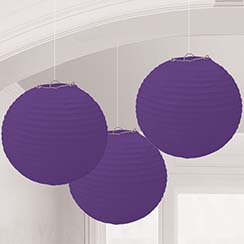 Purple Paper Lantern Decorations - 24cm