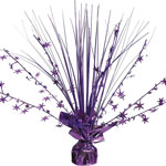 Purple Foil Spray Centrepiece - 30cm
